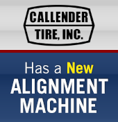 Callender Tire has a new alignment machine.