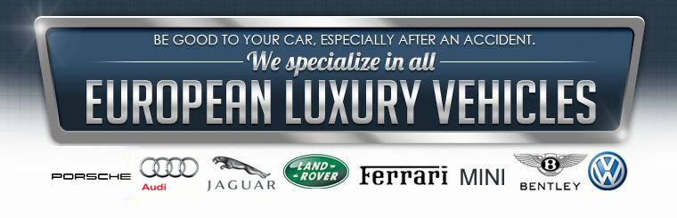 Be good to your car, especially after an accident. We specialize in all European luxury vehicles. Click here to request service.