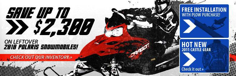 Save up to 2300 on 2010 Snowmobile leftovers!