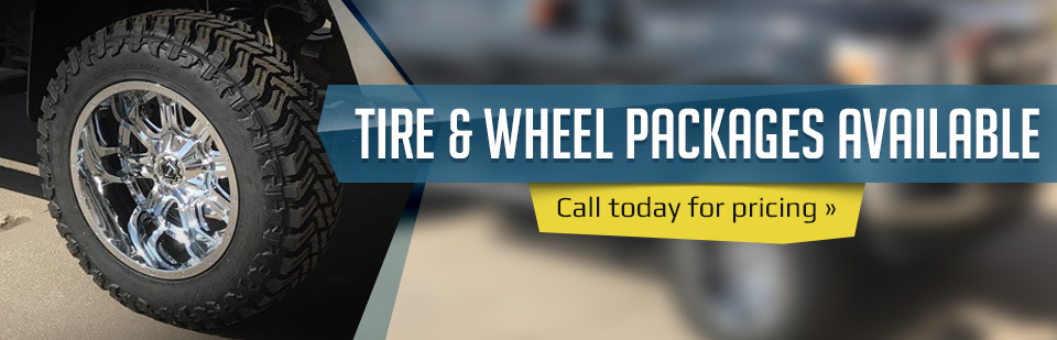 Tire & Wheel Packages Available: Call today for pricing.