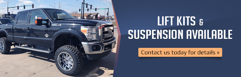 Lift Kits & Suspension Available: Contact us today for details.