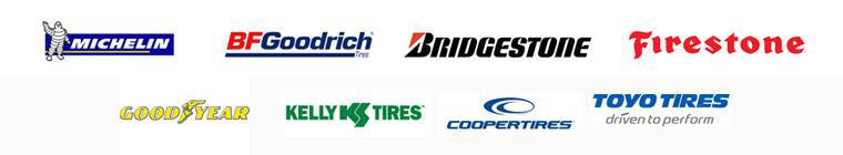 We carry products from Michelin®, BFGoodrich®, Bridgestone, Firestone, Goodyear, Kelly, Cooper, and Toyo.