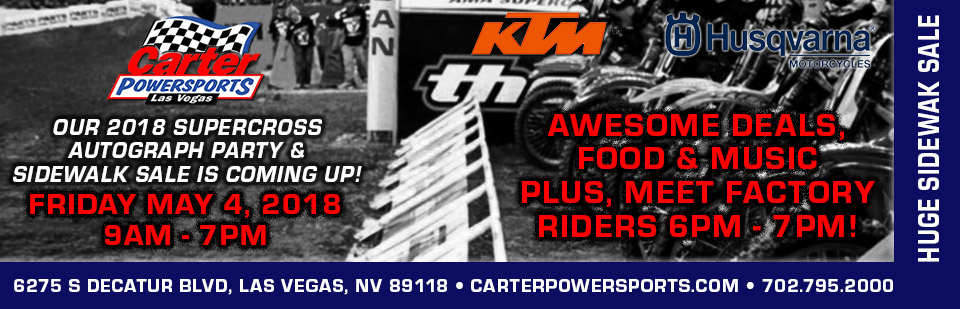 Join us May 4th for our Supercross Party!