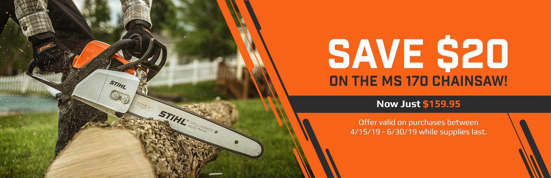 MS 170 Chainsaws: Now just $159.95. Click here to see the models.