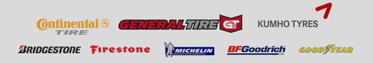 We carry products from Continental, General, Kumho, Bridgestone, Firestone, Michelin®, BFGoodrich®, and Goodyear.