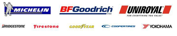 We carry products from Michelin®, BFGoodrich®, Uniroyal®, Bridgestone, Firestone, Goodyear, Cooper, and Yokohama.