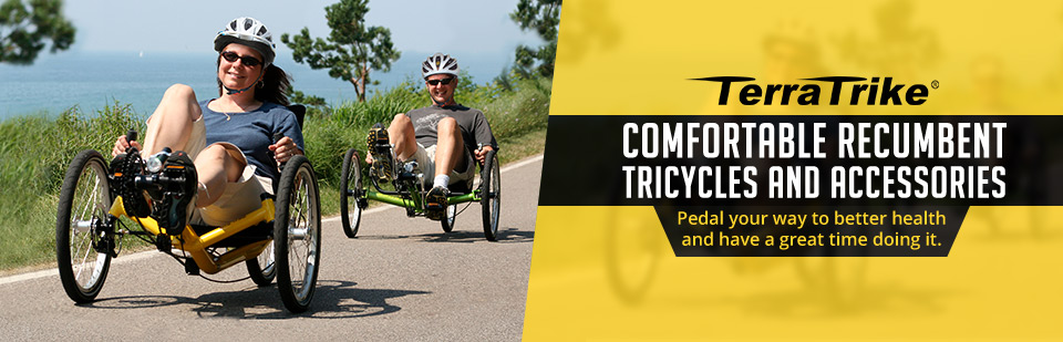 TerraTrike Recumbent Tricycles and Accessories: Pedal your way to better health and have a great time doing it.