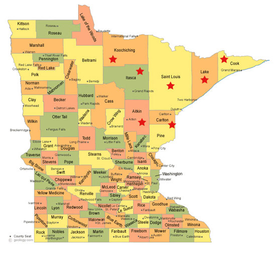 Hoyer Minnesota Map.Counties We Serve Lake Superior Medical Equipment