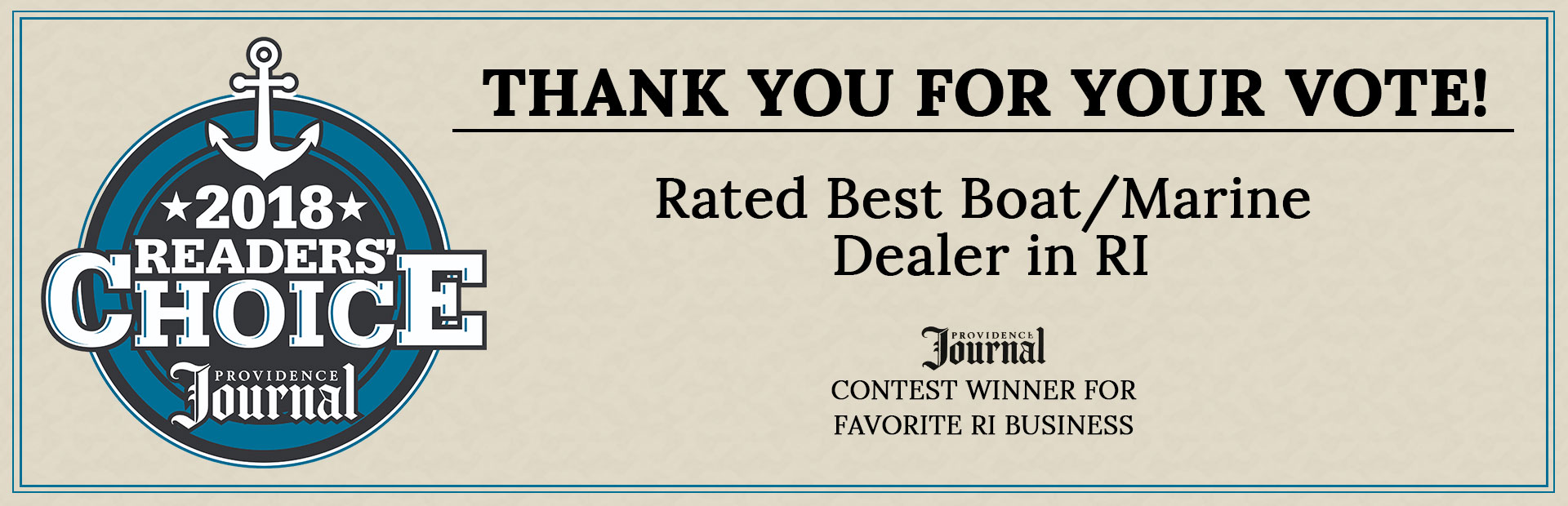 Twin City Marine was rated the best Boat/Marine Dealer in RI! Thank you for your vote!