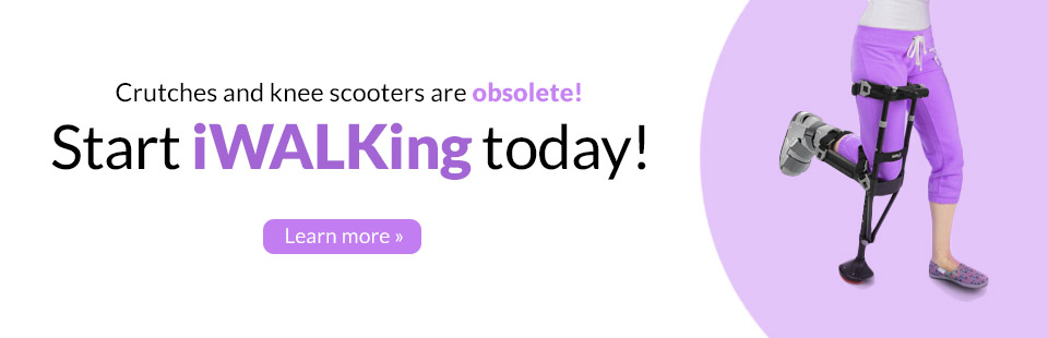 Crutches and knee scooters are obsolete! Start iWALKing today!