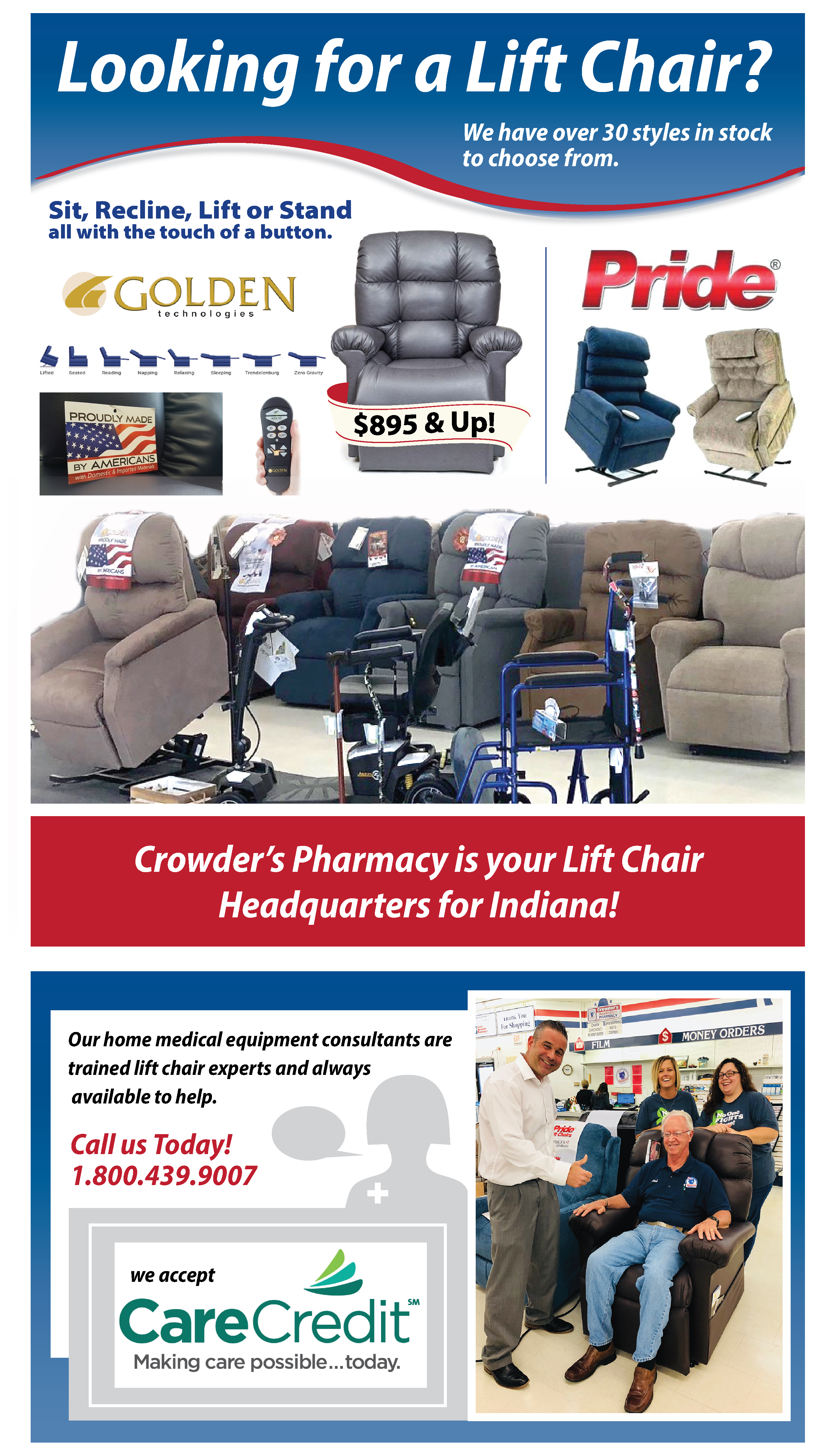 Lift Chairs Crowder's Pharmacy Bedford, IN (800) 439-9007