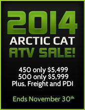 2014 Arctic Cat ATV Sale