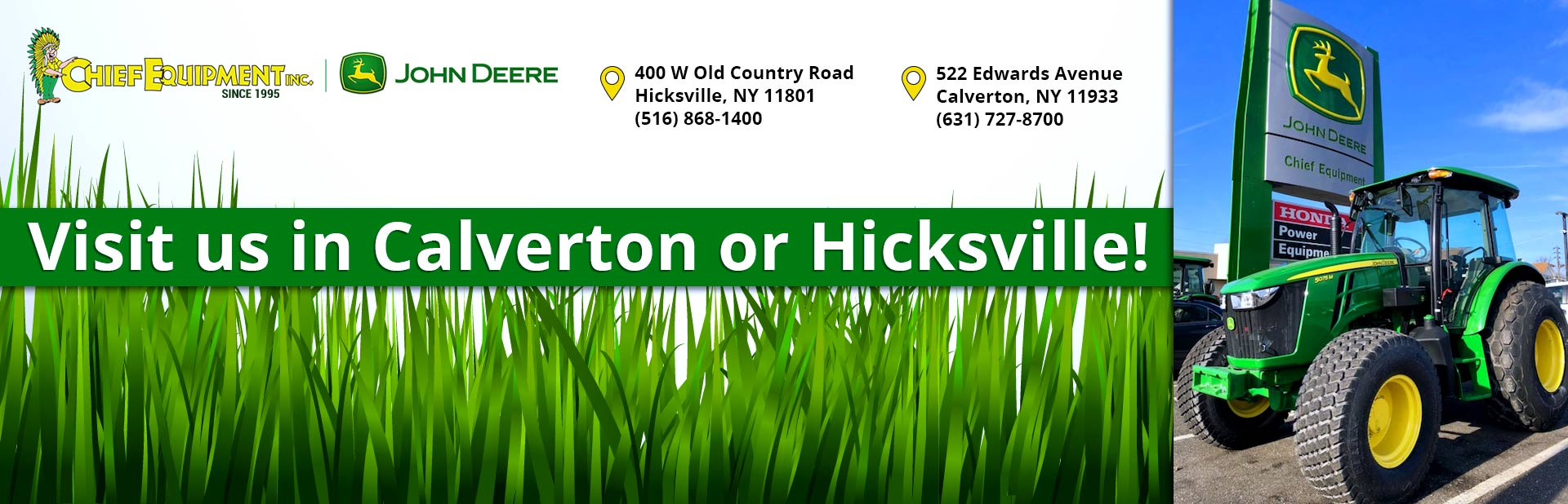 Visit us in Calverton or Hicksville!
