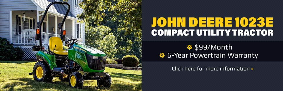 John Deere 1023E Compact Utility Tractor: Click here for more information.