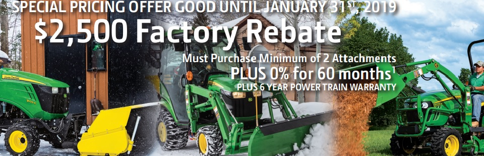 Special Pricing Offer Good Until January 31st, 2019