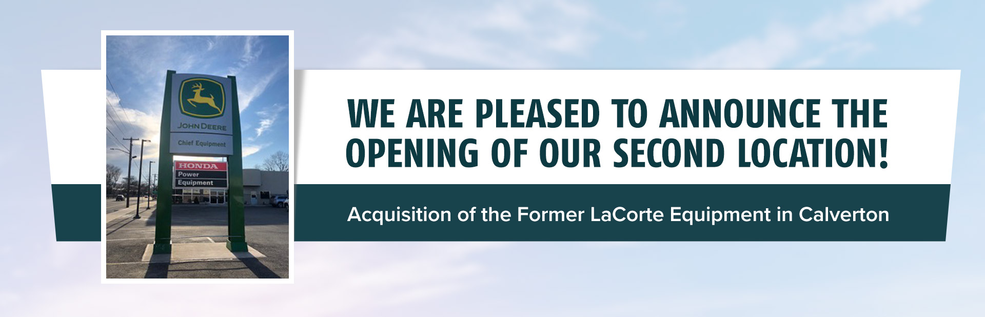 We are pleased to announce the opening of our second location, the former LaCorte Equipment in Calverton!