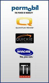 We carry products from Permobil, Quantum Rehab, Quickie, Invacare, and TiLite.