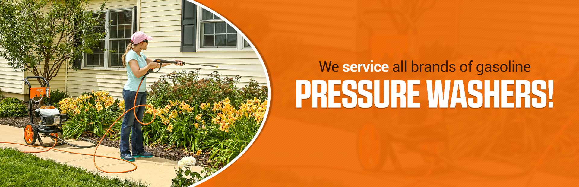 We service all brands of gasoline pressure washers!