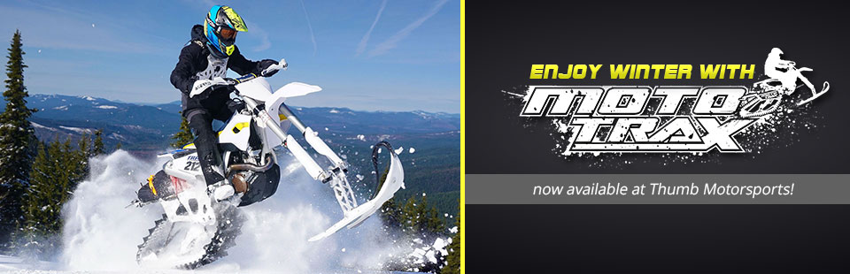 Enjoy winter with MotoTrax, now available at Thumb Motorsports!