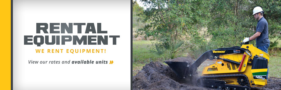 We rent equipment! Click here to view our rates and available units. - Terry's Equipment Sales & Rental Provides Premium Outdoor Power