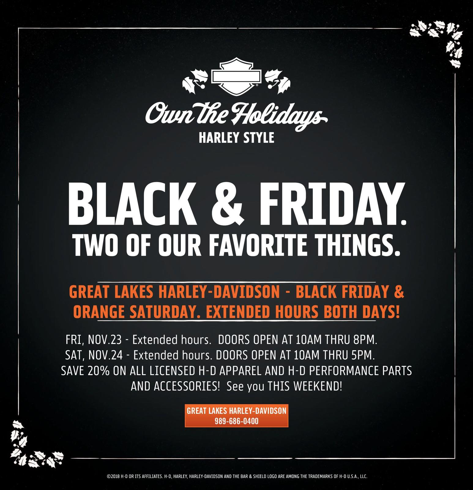 Black & Friday Two of our Favorite Things