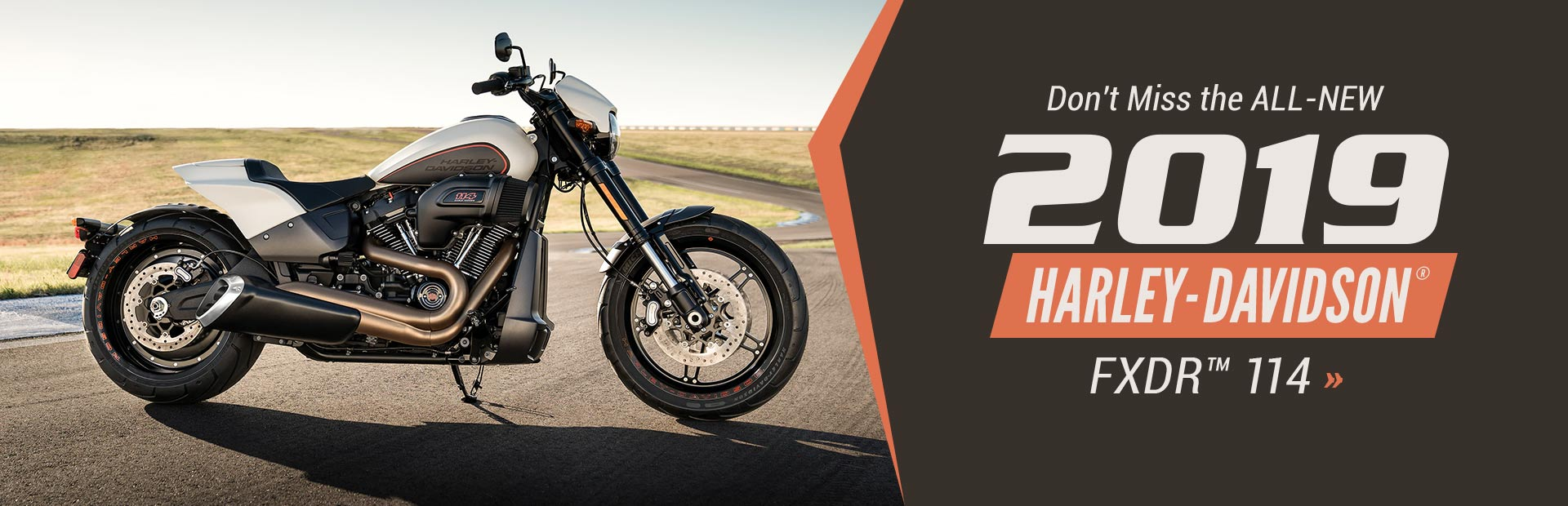 Don't miss the all-new 2019 Harley-Davidson® FXDR™ 114!