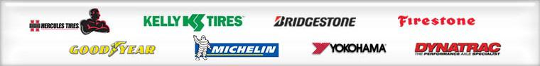 We are proud to feature products from Hercules, Goodyear, Kelly, Bridgestone, Firestone, Michelin®, Yokohama and Dynatrac!