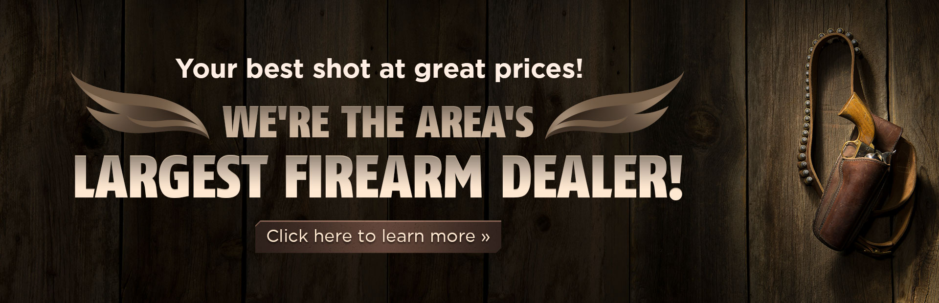 Leitz Sports Center Inc. is the area's largest firearm dealer! Click here to learn more.