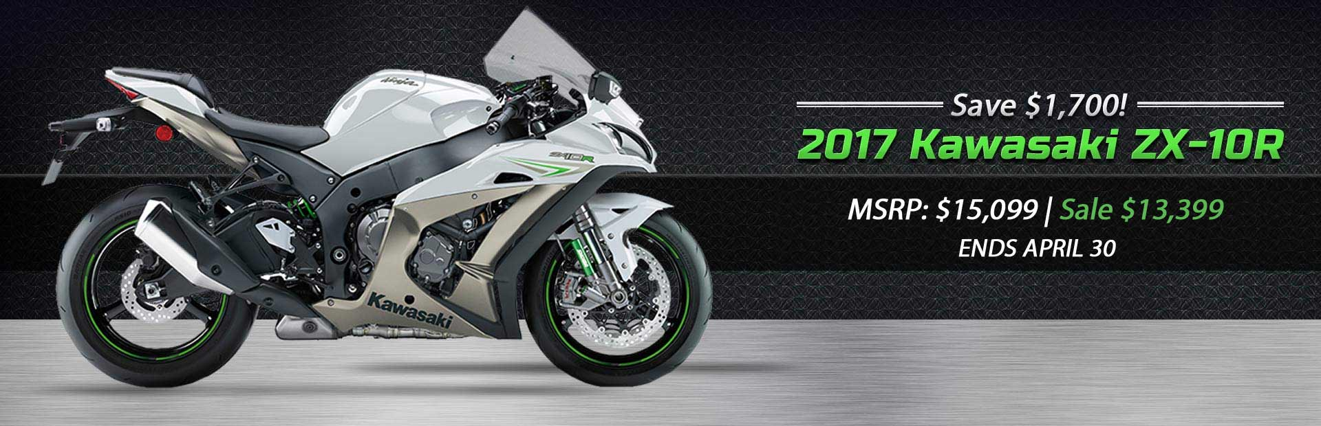 Save $1,700 on the 2017 Kawasaki ZX-10R