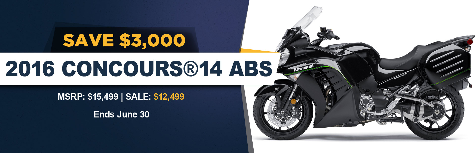 Save $3,000 on the 2016 Kawasaki Concours 14 ABS!
