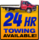 24 hr towing available!