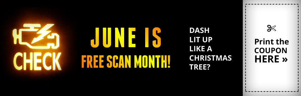 June is Free Scan Month: Click here to print the coupon