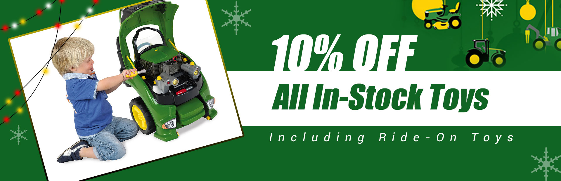 Get 10% off all in-stock toys, including Ride-On toys!