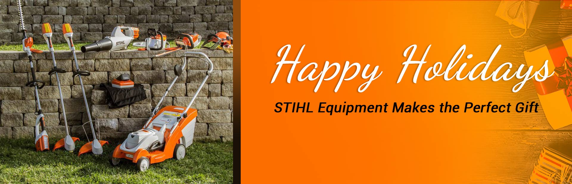 Happy holidays! STIHL equipment makes the perfect gift.