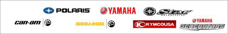 We proudly carry Polaris, Yahama, Star, Can-Am, Sea-Doo, KYMCO, and Yamaha Generators.