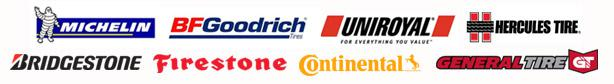 We carry products from Michelin®, BFGoodrich®, Uniroyal®, Hercules, Bridgestone, Firestone, Continental, and General.