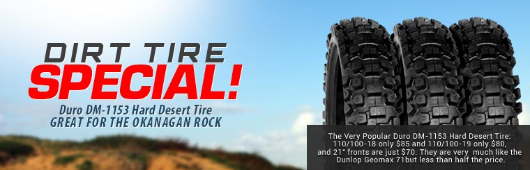Duro DM-1153 Hard Desert Tire, Great for the Okanagan Rock
