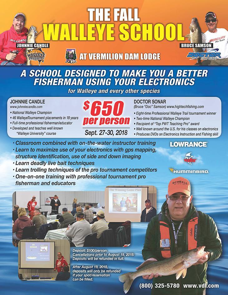 Fall Walleye and Electronics School