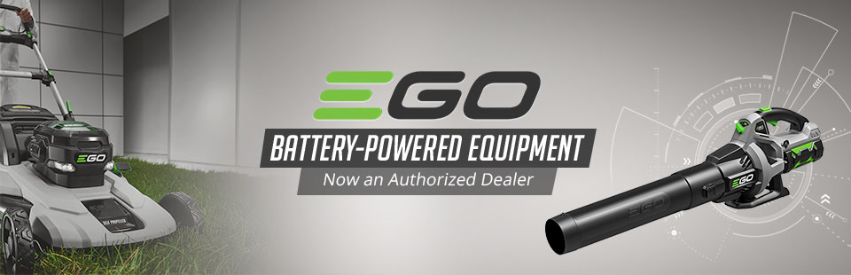 We are now an authorized dealer of EGO battery-powered equipment!