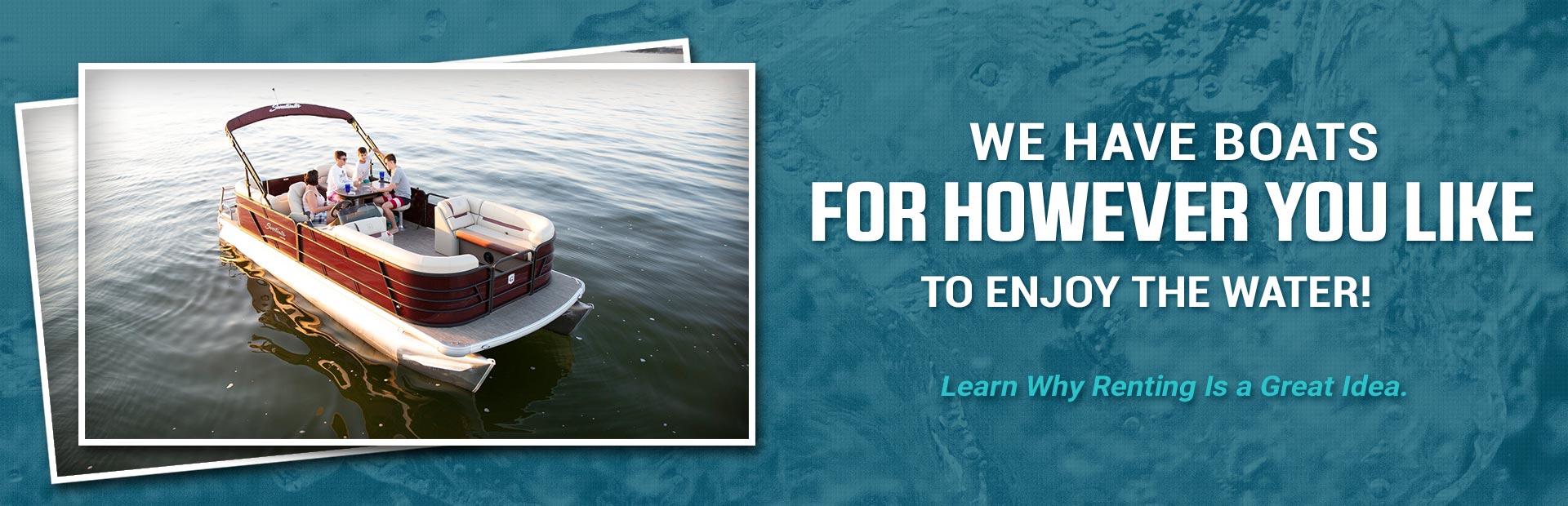 Shop Pontoons, Aluminum Fishing Boats, Outboards, Docks