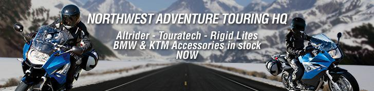 Northwest Adventrue Touring HQ. Altrider - Touratech - Rigid Lites BMW and KTM accessories in stock now.