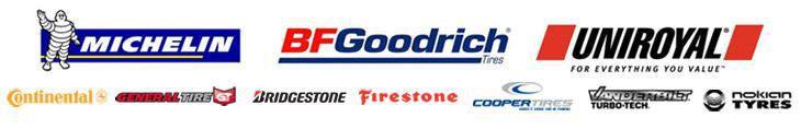 We proudly offer products from: Michelin®, BFGoodrich®, Uniroyal®, Continental, General, Bridgestone, Firestone, Cooper Tires, Vanderbilt, and Nokian.