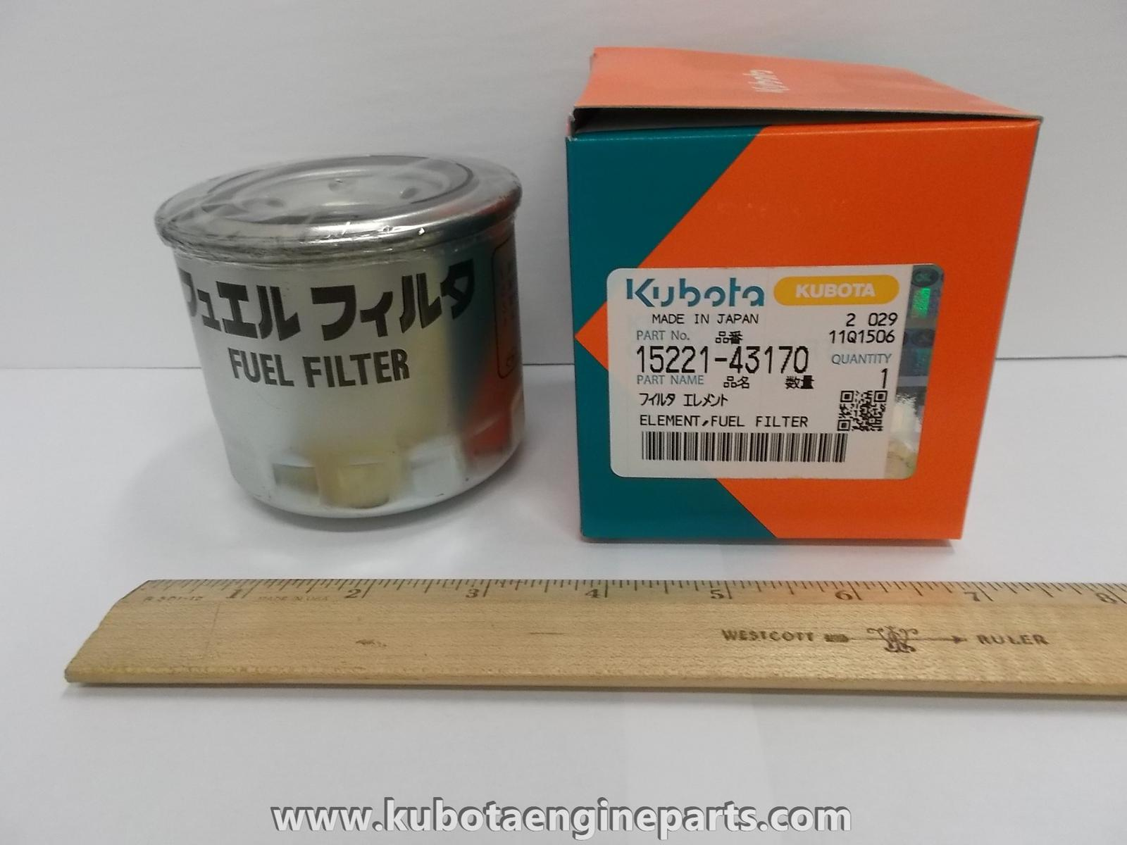 15221 43170 For Sale Kubota Engine Parts Brookville 800 443 6831 Fuel Filter Location