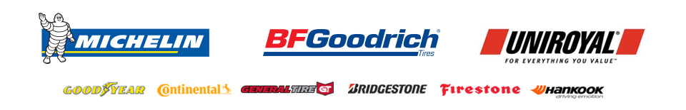 We carry products from Michelin®, BFGoodrich®, Uniroyal®, Goodyear, Continental, General, Bridgestone, Firestone, and Hankook.