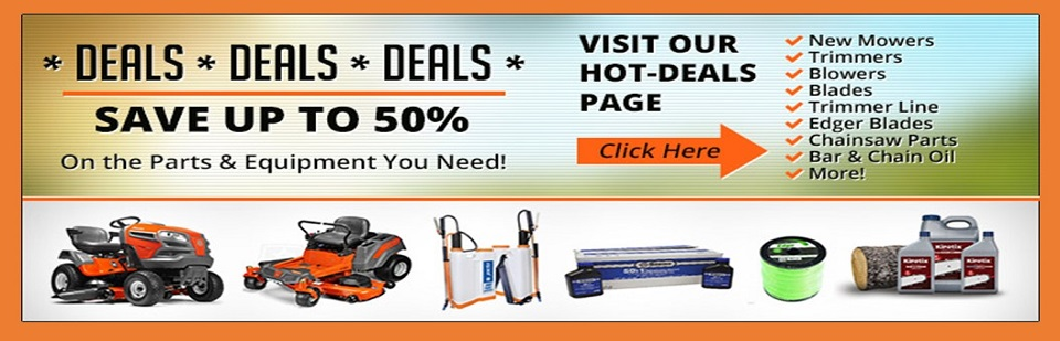 SAVE ON LAWN EQUIPMENT