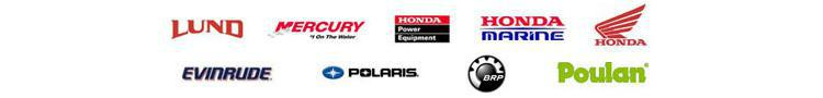 We carry products from Lund, Mercury, Honda Power Equipment, Honda Marine, Honda, Evinrude, Polaris, BRP, and Poulan.