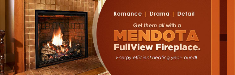 Mendota FullView Fireplaces: Get energy efficient heating year-round!