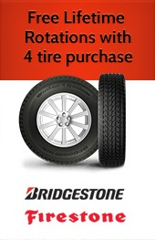 Free Lifetime Tire Rotations with 4 Tire Purchase
