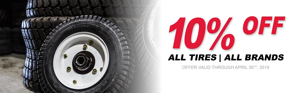 April Tires 10% OFF