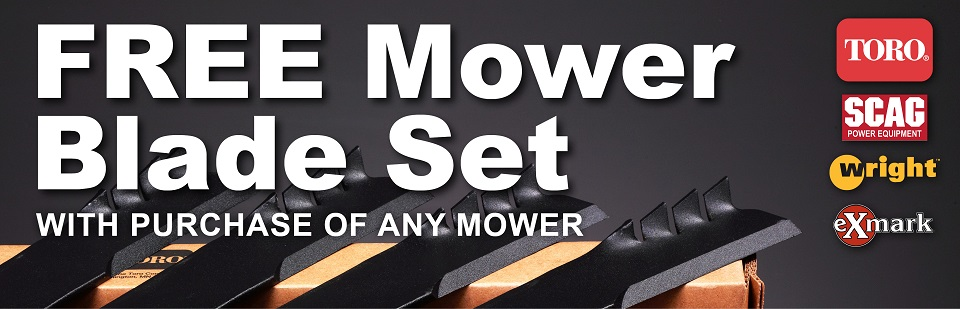 Free Mower Blade Set with Mower Purchase